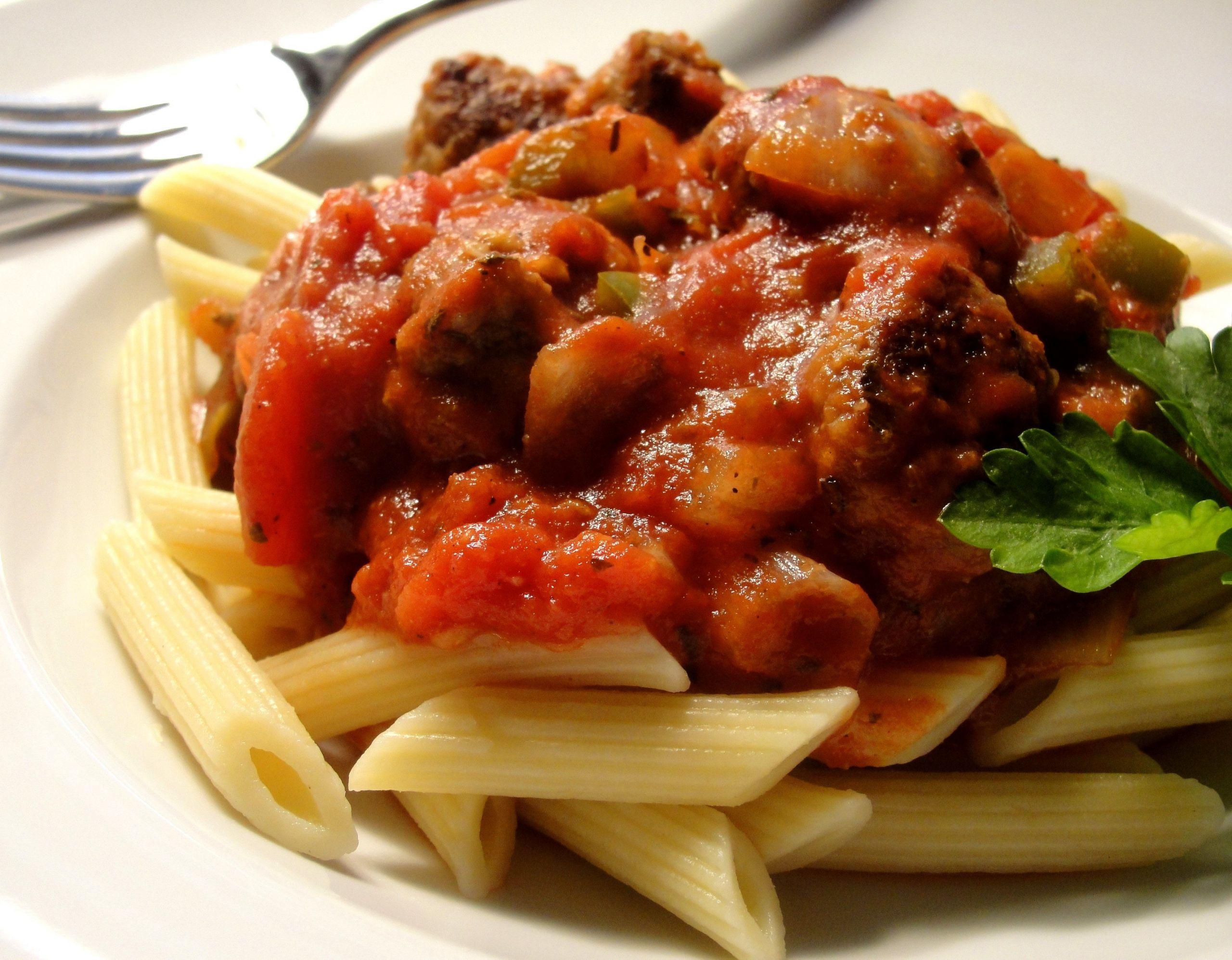 Quick Italian Recipes  Easy Italian Sausage Pasta Sauce recipe – All recipes