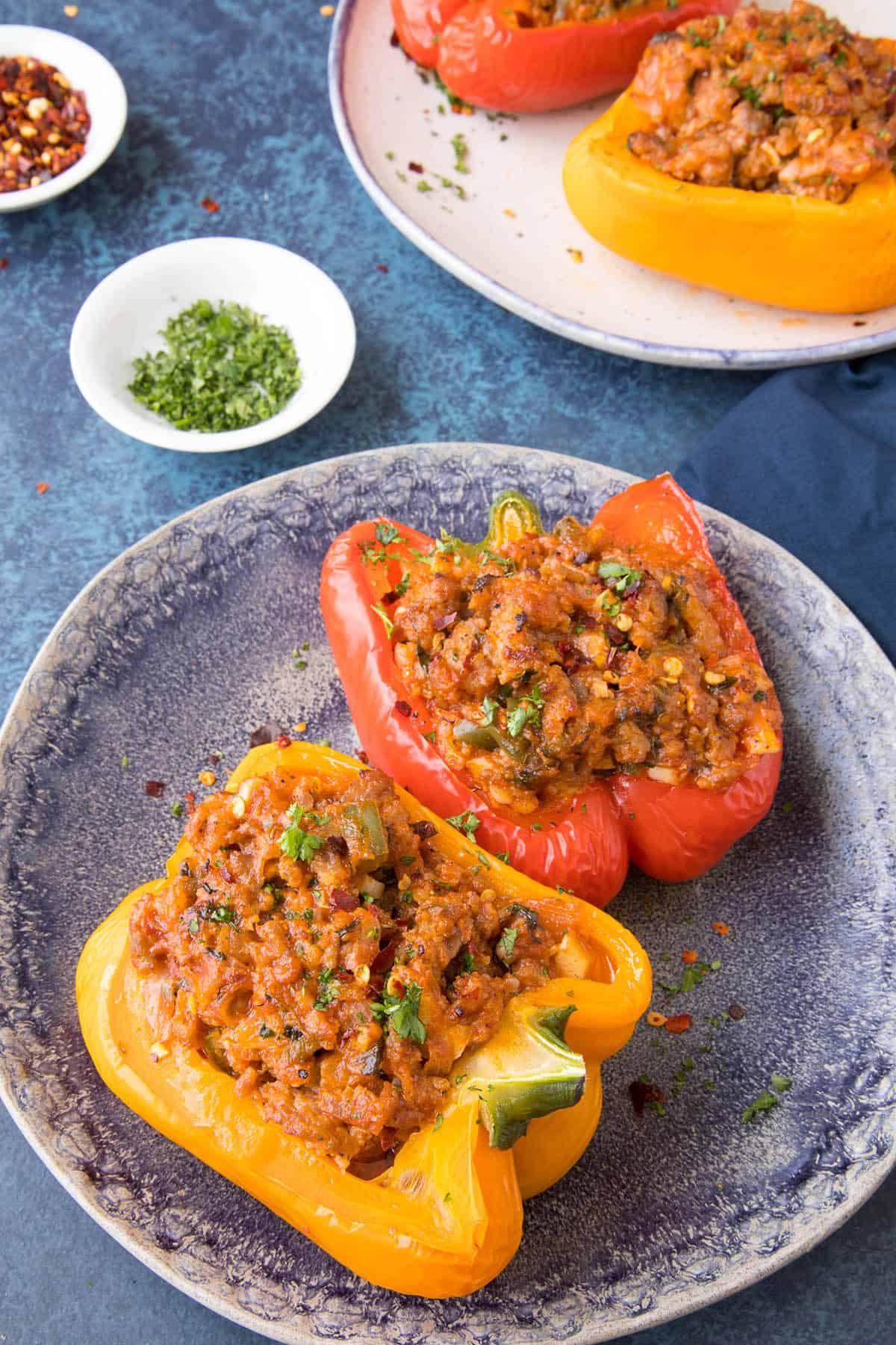 Quick Italian Recipes  Easy Italian Sausage Stuffed Peppers Recipe Chili