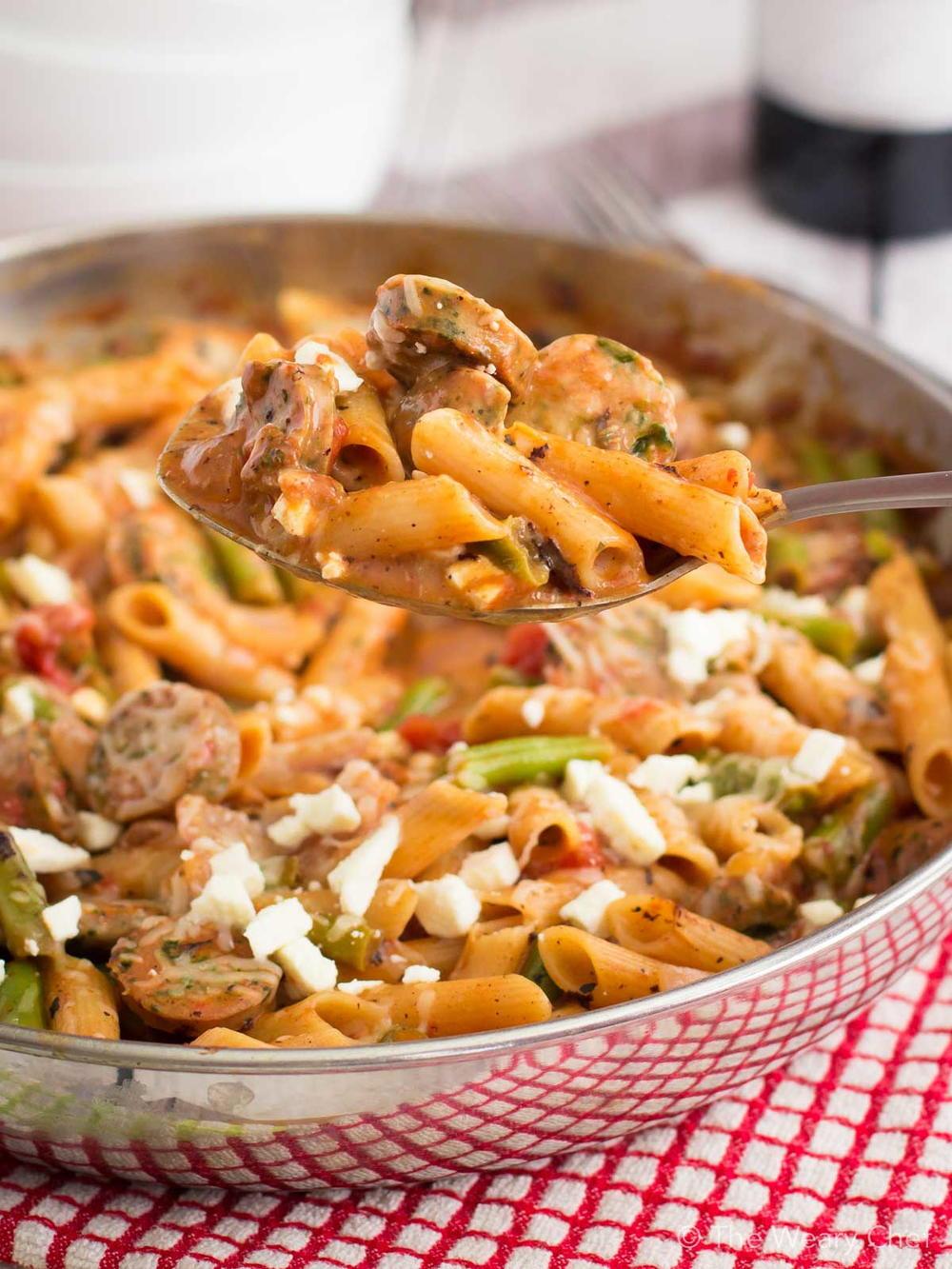 Quick Italian Recipes  Easy Italian Sausage Pasta Skillet Recipe