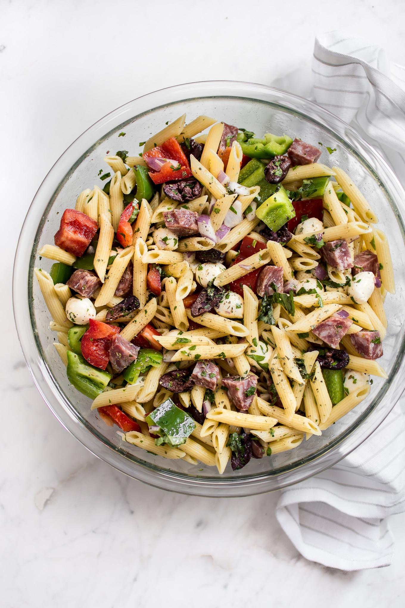 Quick Italian Recipes  Easy Italian Pasta Salad Recipe • Salt & Lavender