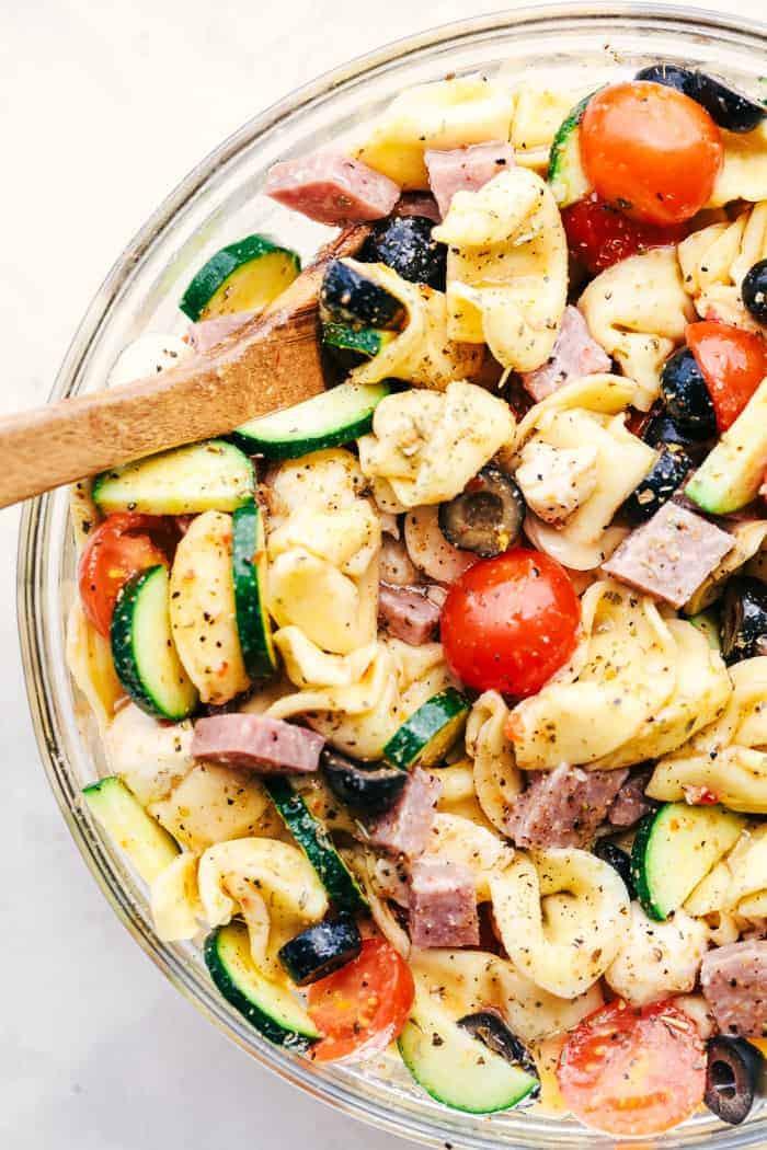 Quick Italian Recipes  Easy Italian Tortellini Pasta Salad