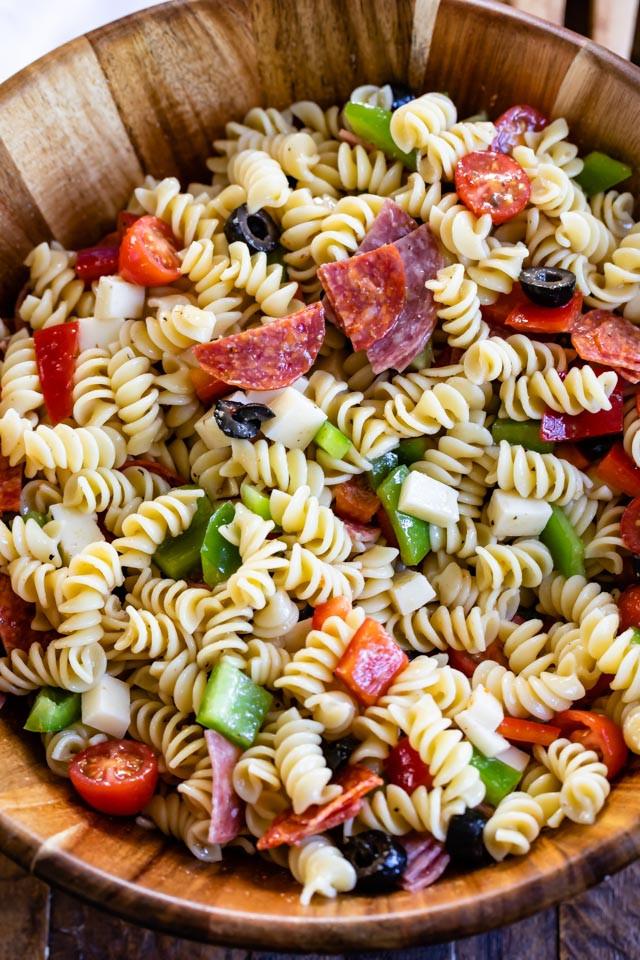 Quick Italian Recipes  Easy Italian Pasta Salad Recipe Crazy for Crust