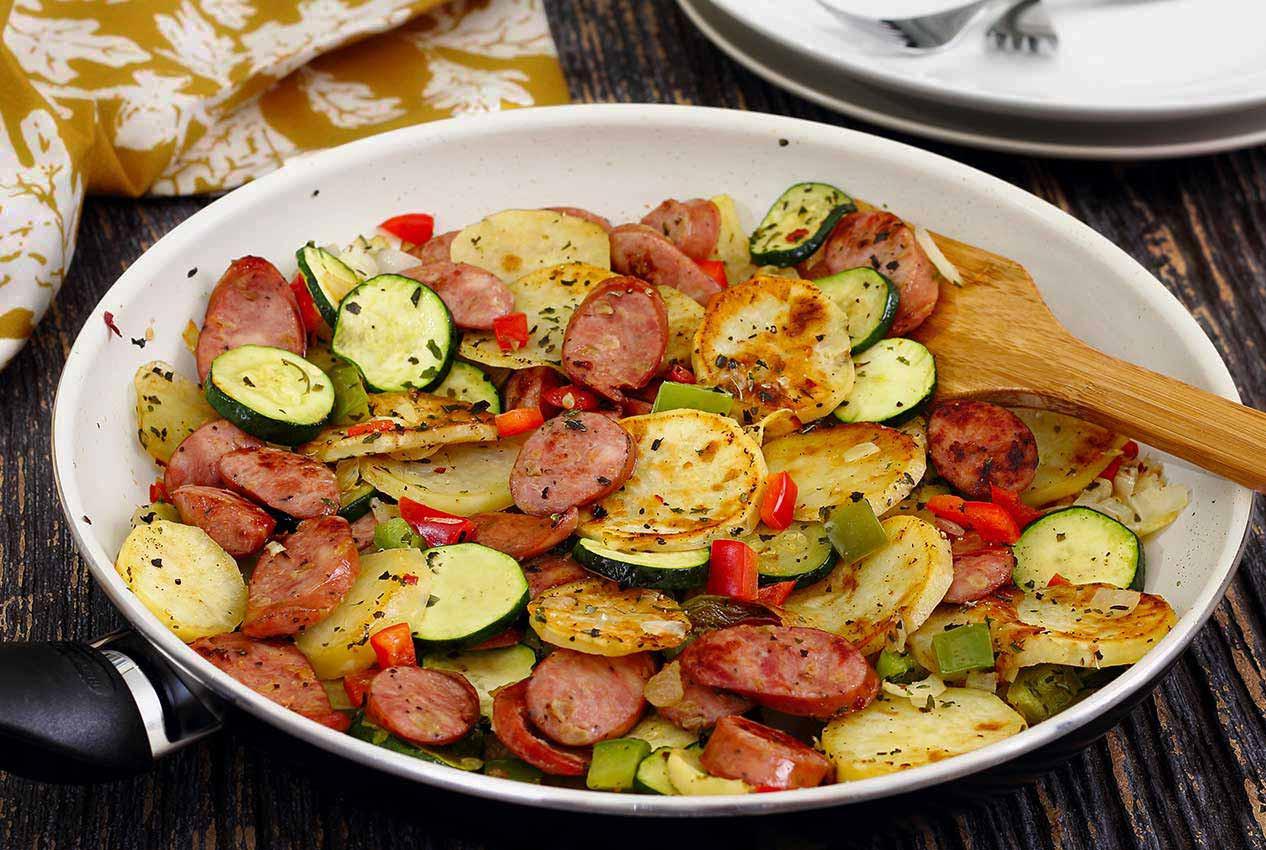 Quick Italian Recipes  Italian Sausage & Potato Quick Skillet Recipe