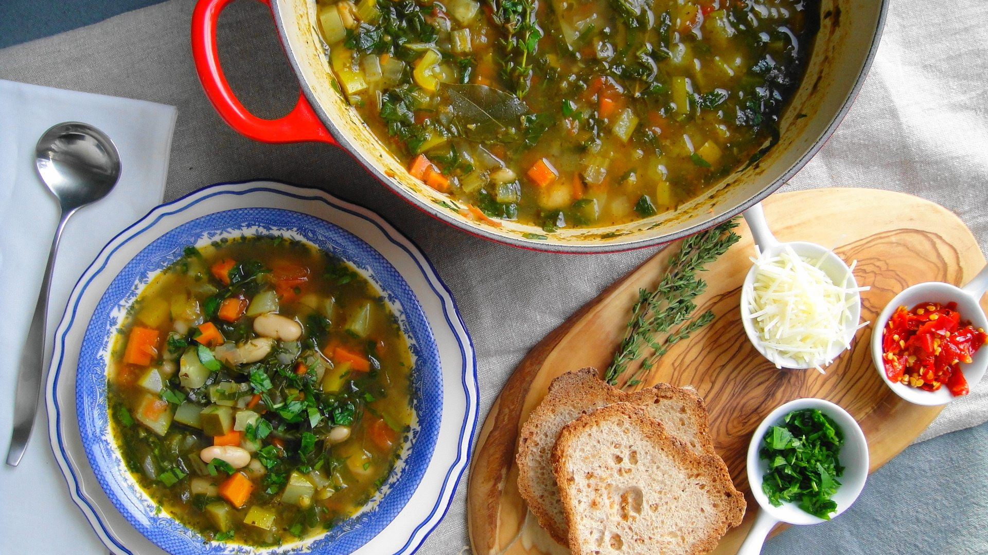 Quick Italian Recipes  Quick Italian Ve able Soup Glorious Soup Recipes