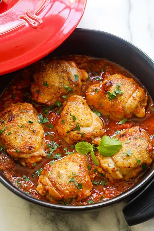 Quick Italian Recipes  Italian Braised Chicken