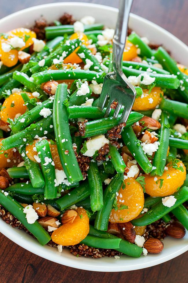 Quinoa Salad Dressing  Green Bean Quinoa Salad with Maple Citrus Dressing