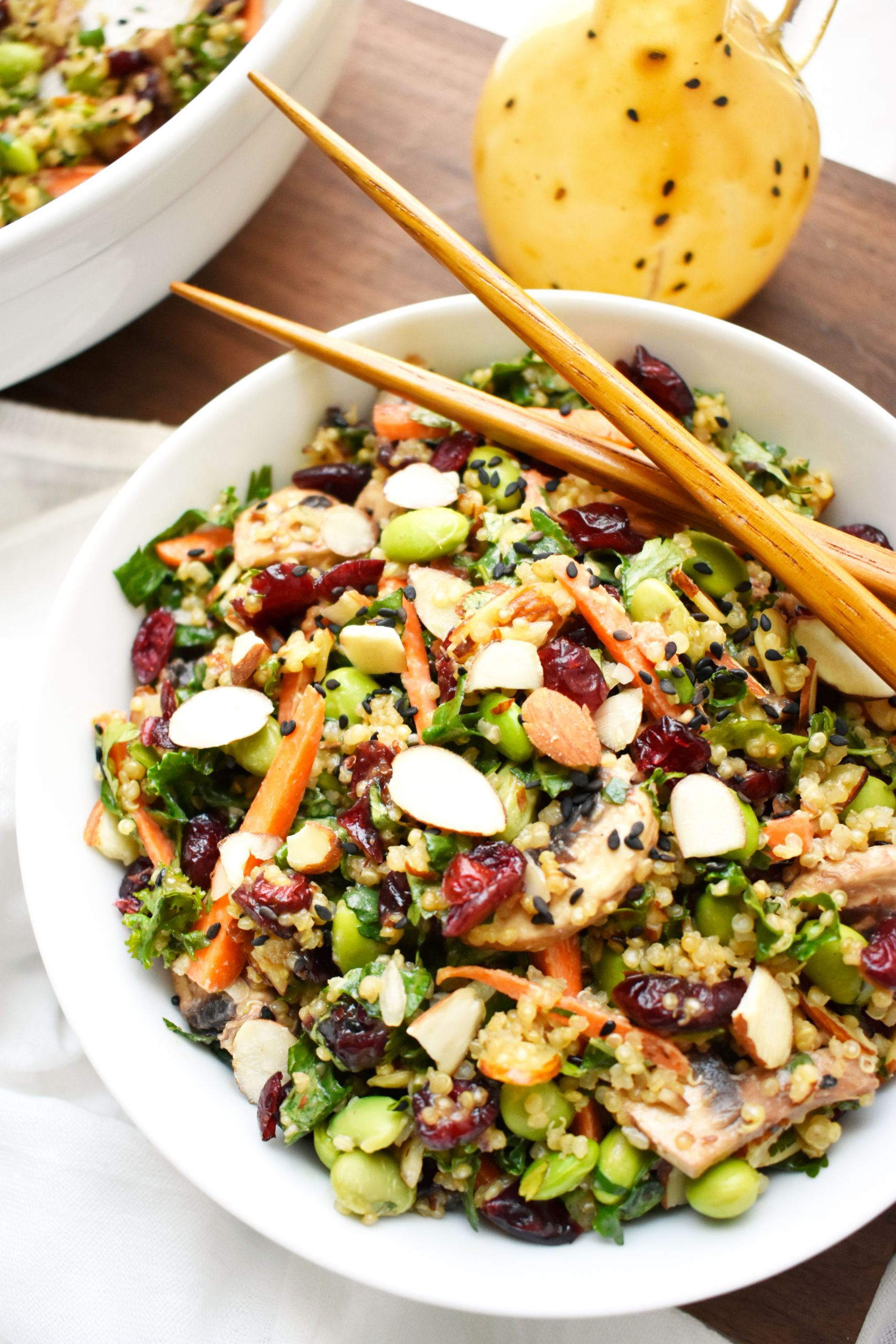 Quinoa Salad Dressing  Quinoa Kale Salad with Sesame Peanut Ginger Dressing