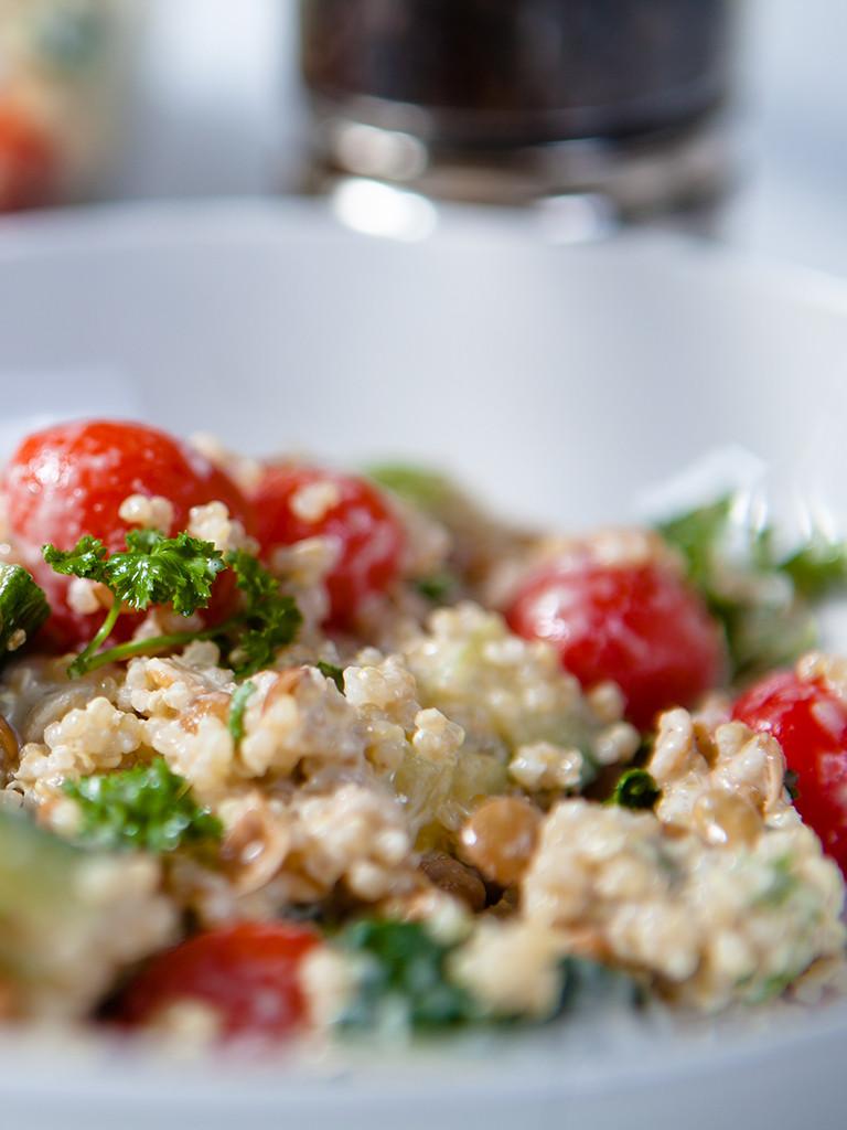 Quinoa Salad Dressing  Gluten free Quinoa Salad with Creamy Tahini Dressing