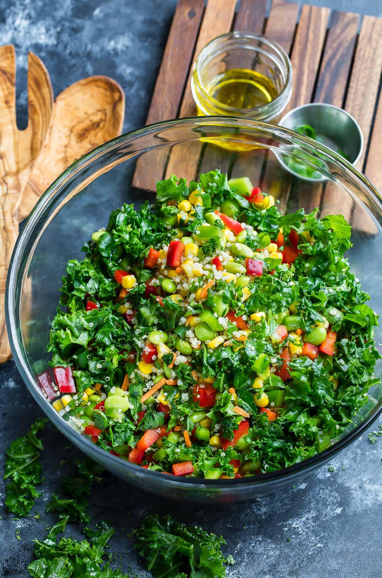 Quinoa Salad Dressing  Healthy Quinoa Salad with Light Homemade Dressing Recipe