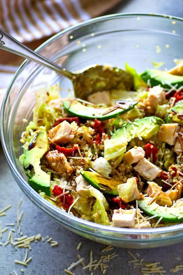 Quinoa Salad Dressing  Chicken Avocado Quinoa Salad with Balsamic Dressing