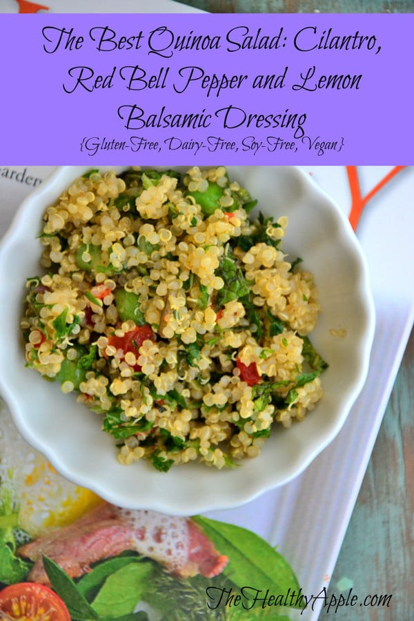 Quinoa Salad Dressing  The Best Quinoa Salad Cilantro Red Bell Pepper and Lemon