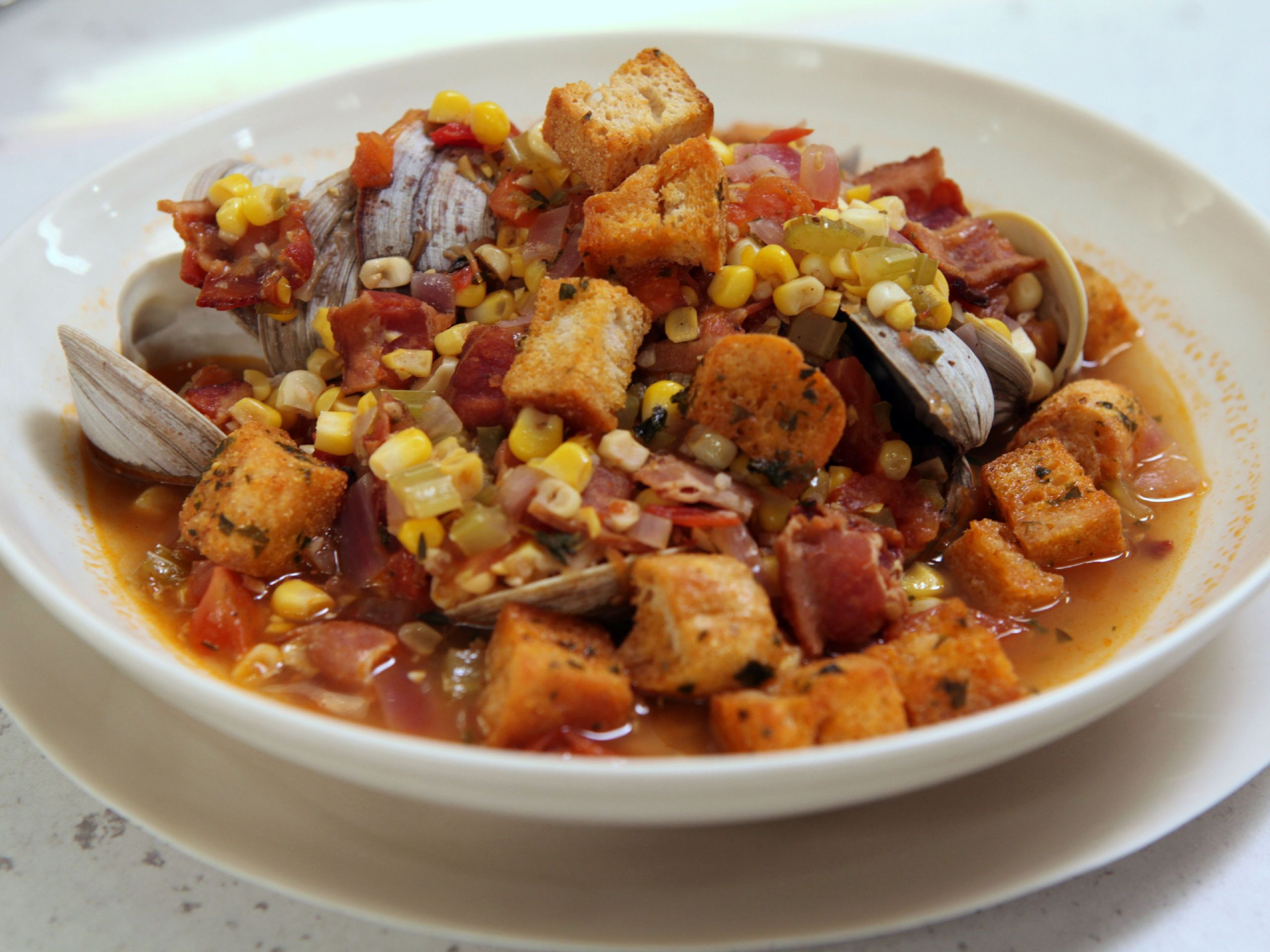 Rachael Ray Winter Vegetable Chowder  Spicy Clam and Corn Chowder Recipe