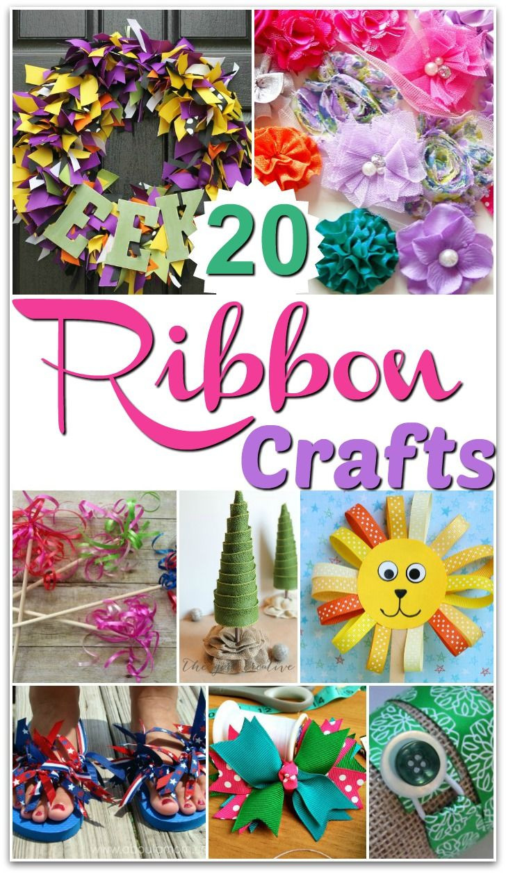 Ribbon Craft Ideas For Adults  A round up of ribbon craft ideas for kids and adults with