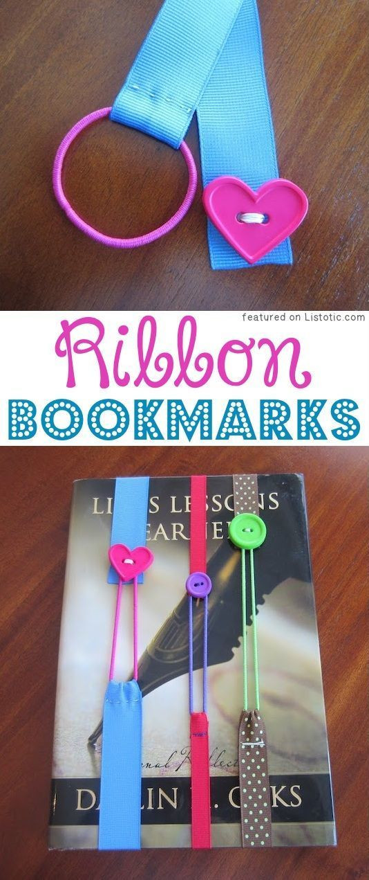 Ribbon Craft Ideas For Adults  DIY Ribbon Bookmarks ribbon hairbands and buttons