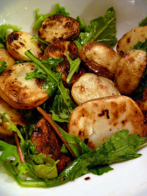 Roasted Baby Gold Potatoes  Slice of Southern Roasted Baby Gold Potatoes with Arugula