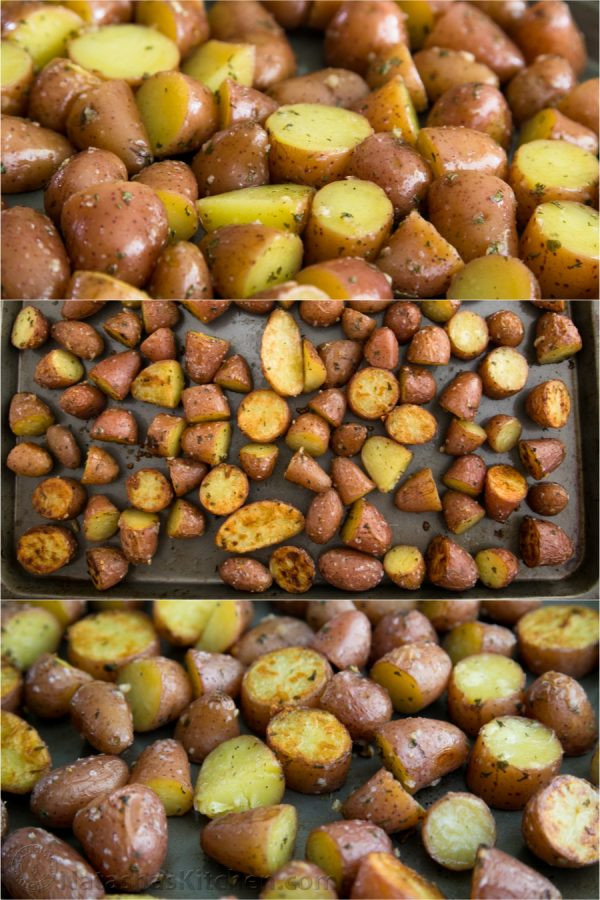 Roasted Baby Red Potatoes  Easy Oven roasted baby red potatoes Natasha s Kitchen