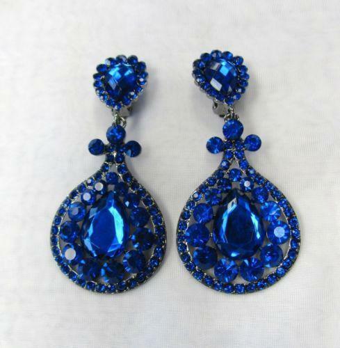 Royal Blue Earrings  Royal Blue Earrings
