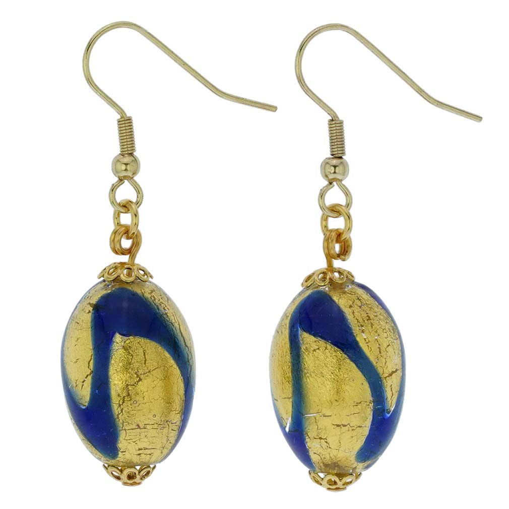 Royal Blue Earrings  Murano Earrings