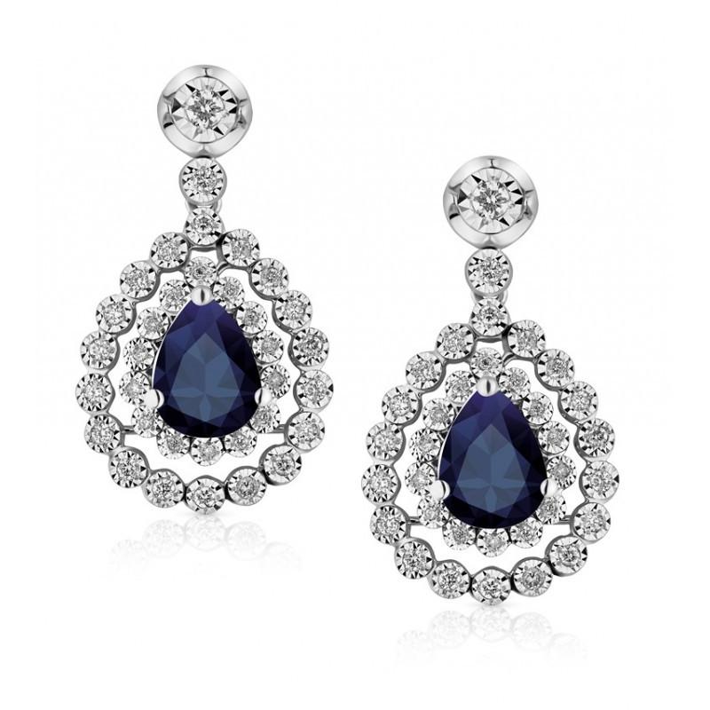 Royal Blue Earrings  Royal Blue Sapphire Earring