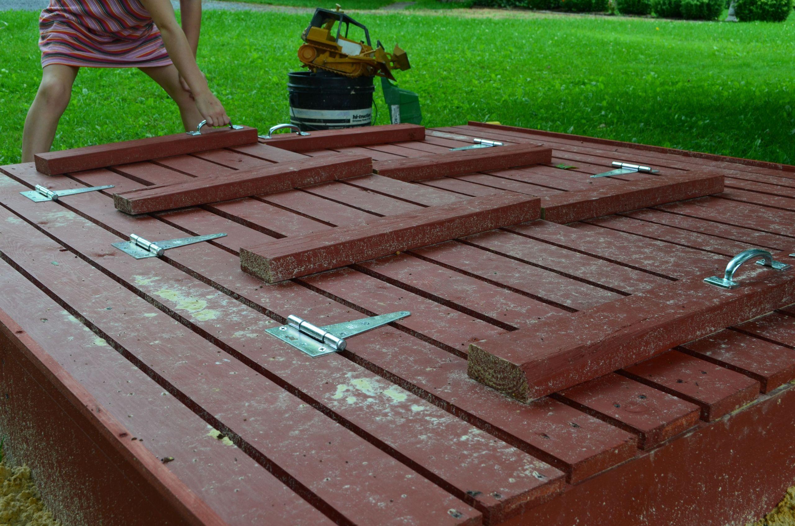 Sandbox Plans DIY  End of Summer DIY Sandbox