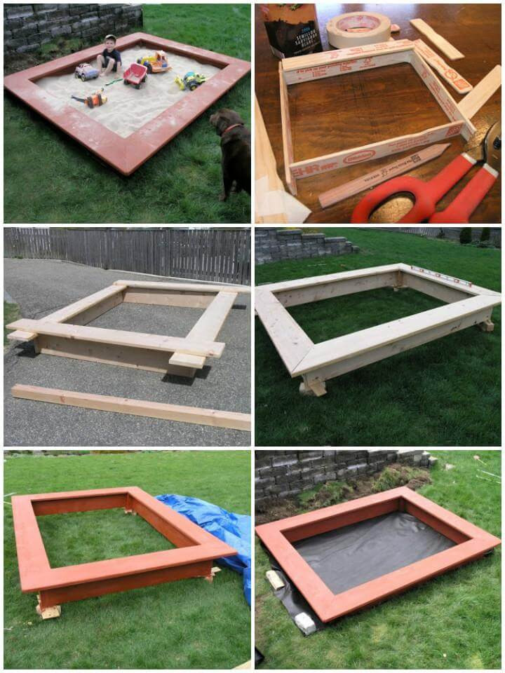 Sandbox Plans DIY  60 DIY Sandbox Ideas and Projects for Kids Page 7 of 10