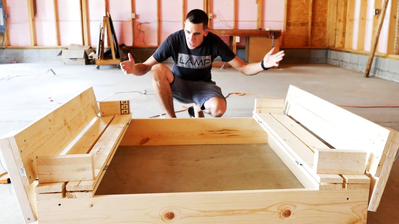 Sandbox Plans DIY  HOW TO BUILD A SANDBOX WITH BENCH SEATS DIY