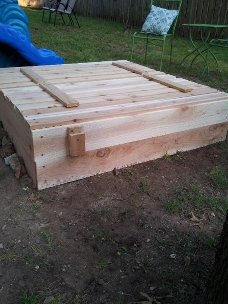Sandbox Plans DIY  DIY Sandbox with Cover