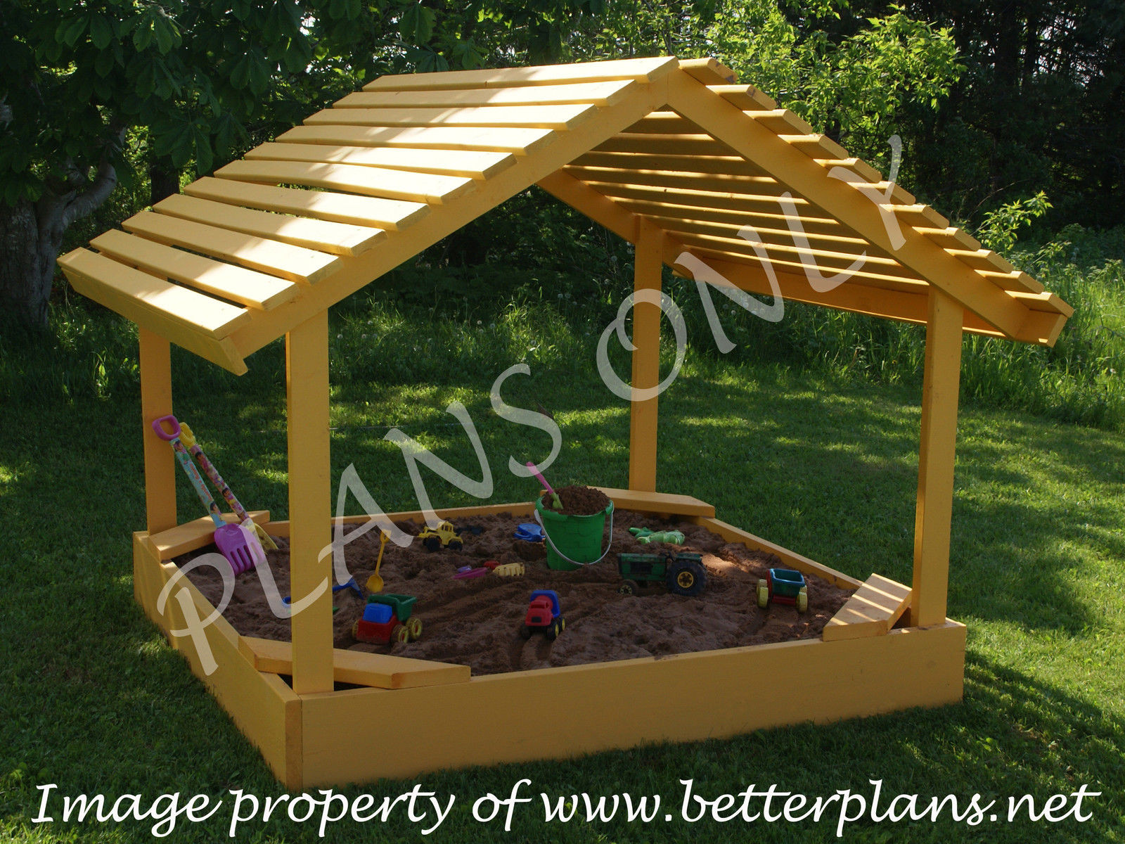 Sandbox Plans DIY  25 Garden Pallet Projects