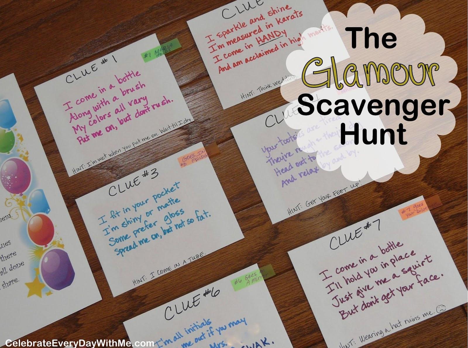 Scavenger Hunt Birthday Party Ideas  49 Birthday Scavenger Hunt For Boyfriend