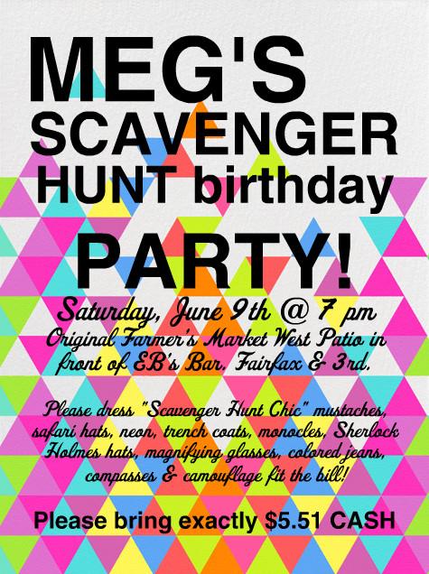 Scavenger Hunt Birthday Party Ideas  Scavenger Hunt Birthday Party Invitations