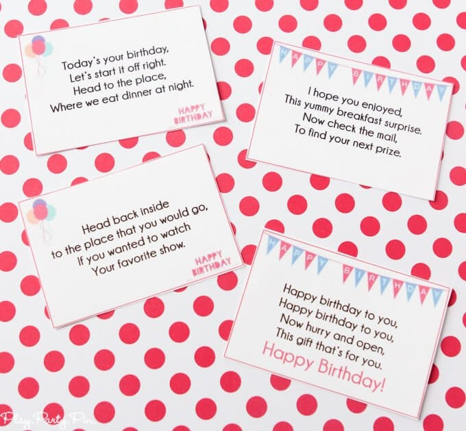 Scavenger Hunt Birthday Party Ideas  A Super Fun Free Printable Birthday Scavenger Hunt Play