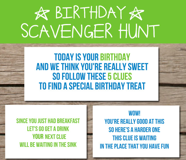 Scavenger Hunt Birthday Party Ideas  10 Birthday Breakfast Ideas To Celebrate The Day Love