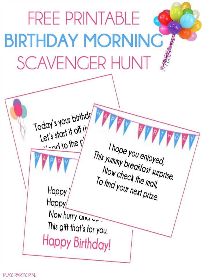 Scavenger Hunt Birthday Party Ideas  Birthday Scavenger Hunt Ideas