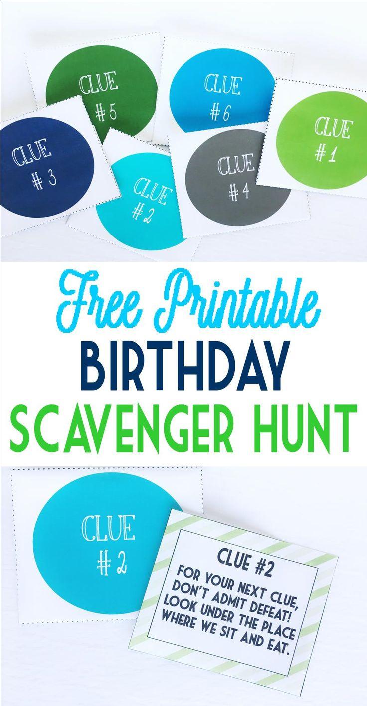 Scavenger Hunt Birthday Party Ideas  Birthday Scavenger Hunt