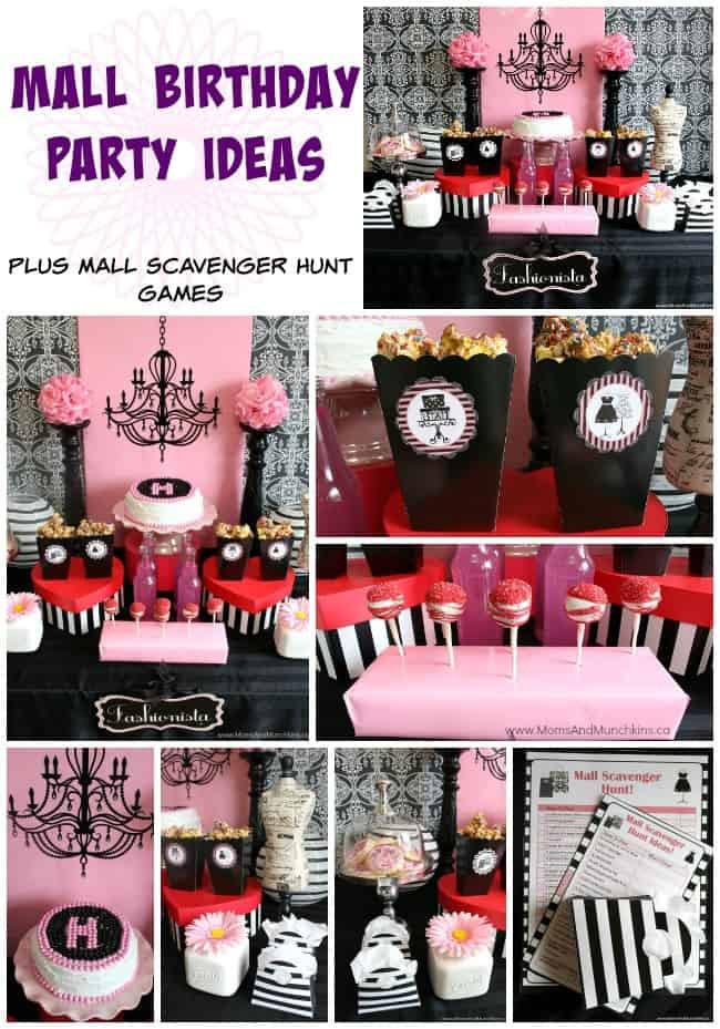 Scavenger Hunt Birthday Party Ideas  Mall Scavenger Hunt Birthday Party Moms & Munchkins