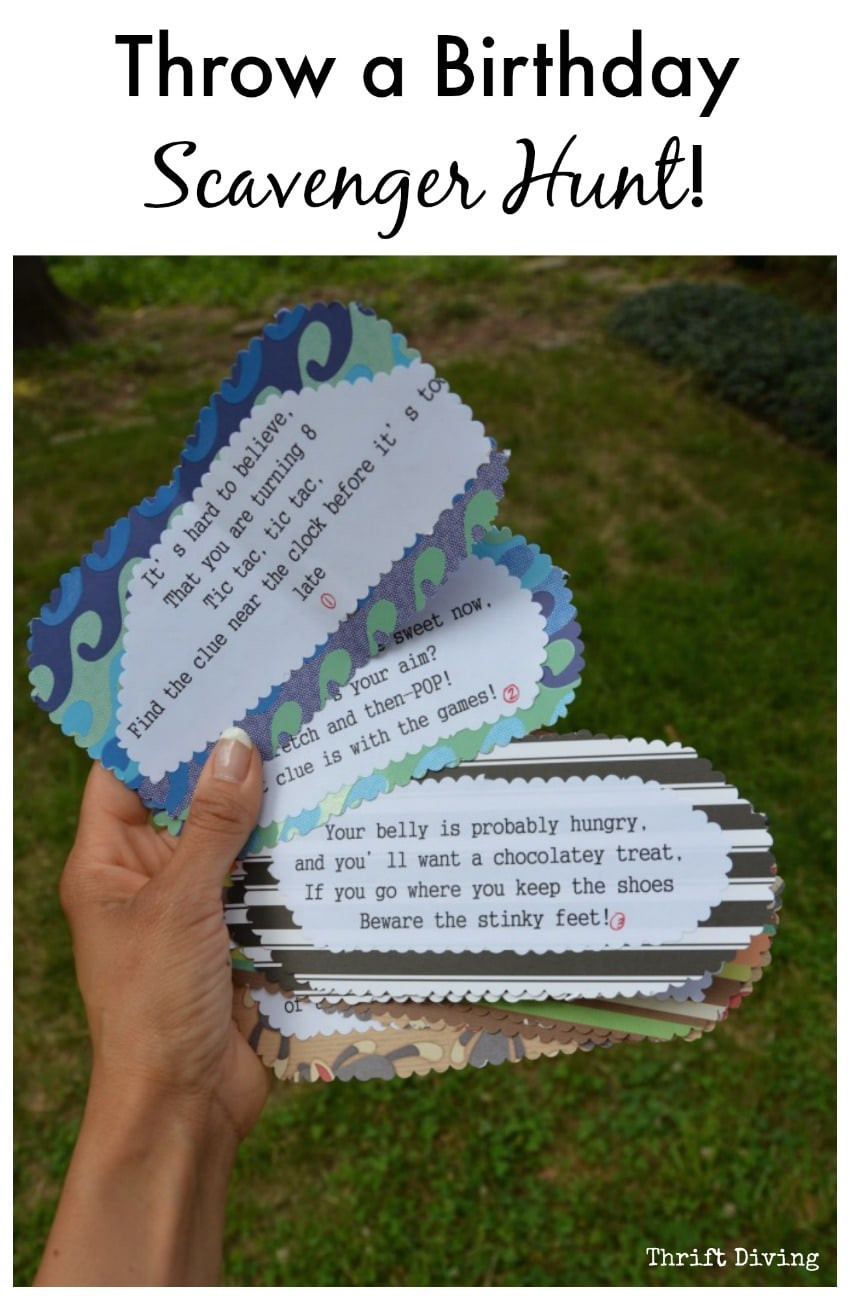 Scavenger Hunt Birthday Party Ideas  How to Throw a Birthday Card Scavenger Hunt