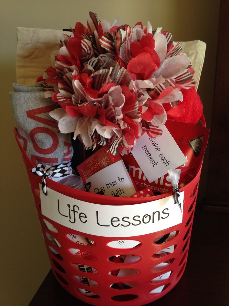 "Senior Graduation Gift Ideas  High School Graduation Gift basket ""Life Lessons "" include"