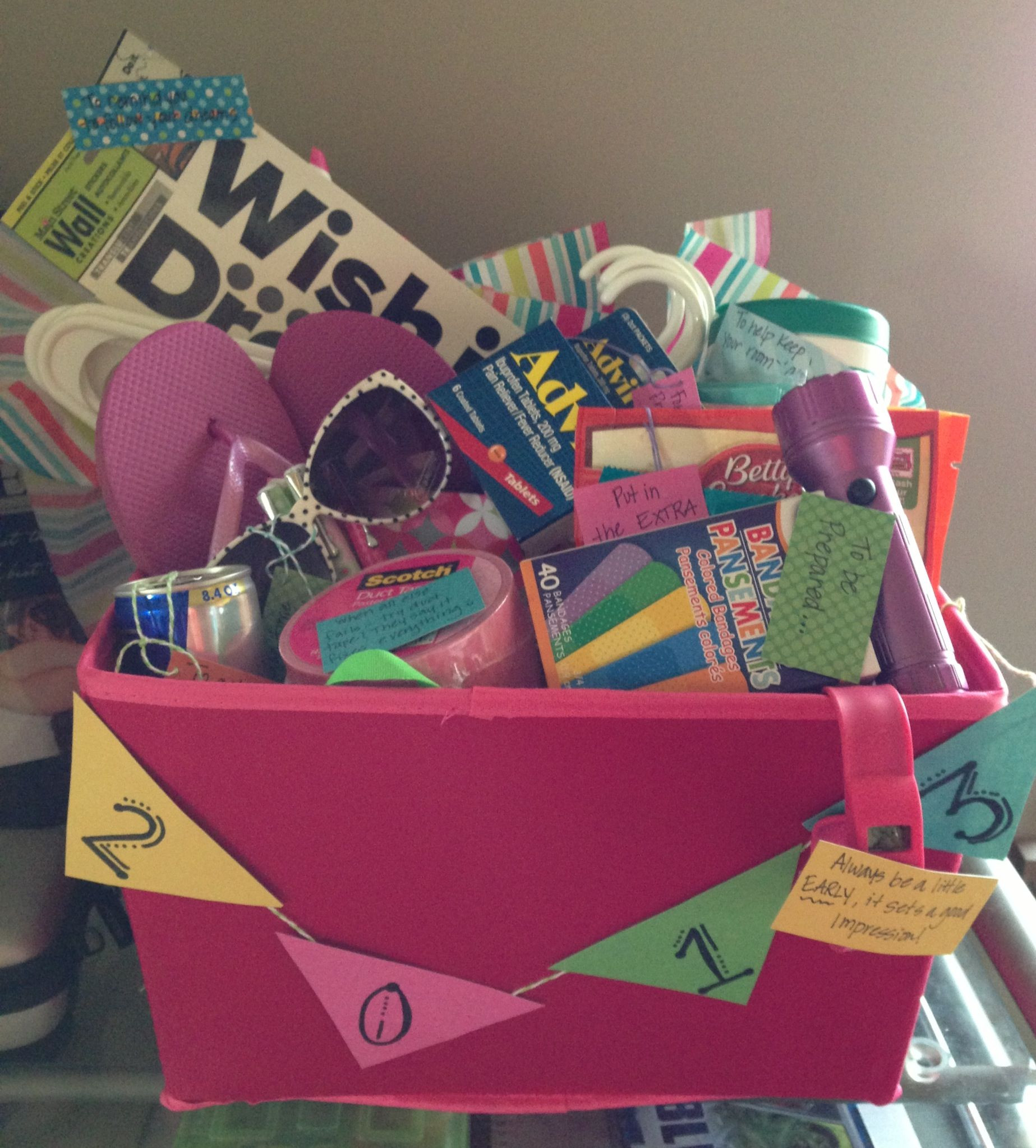 Senior Graduation Gift Ideas  Graduation t basket college survival and tips basket