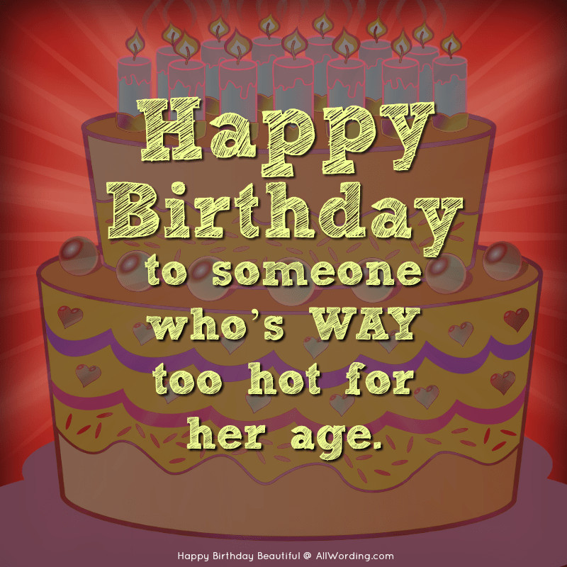 Sexy Birthday Wishes  Happy Birthday Beautiful 30 Sweet Birthday Wishes For