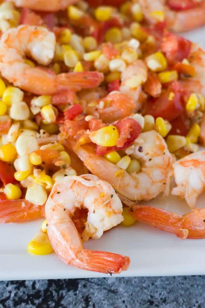 Shrimp And Corn Salad  Easy Shrimp Tomato & Corn Salad 15 Minute Meal