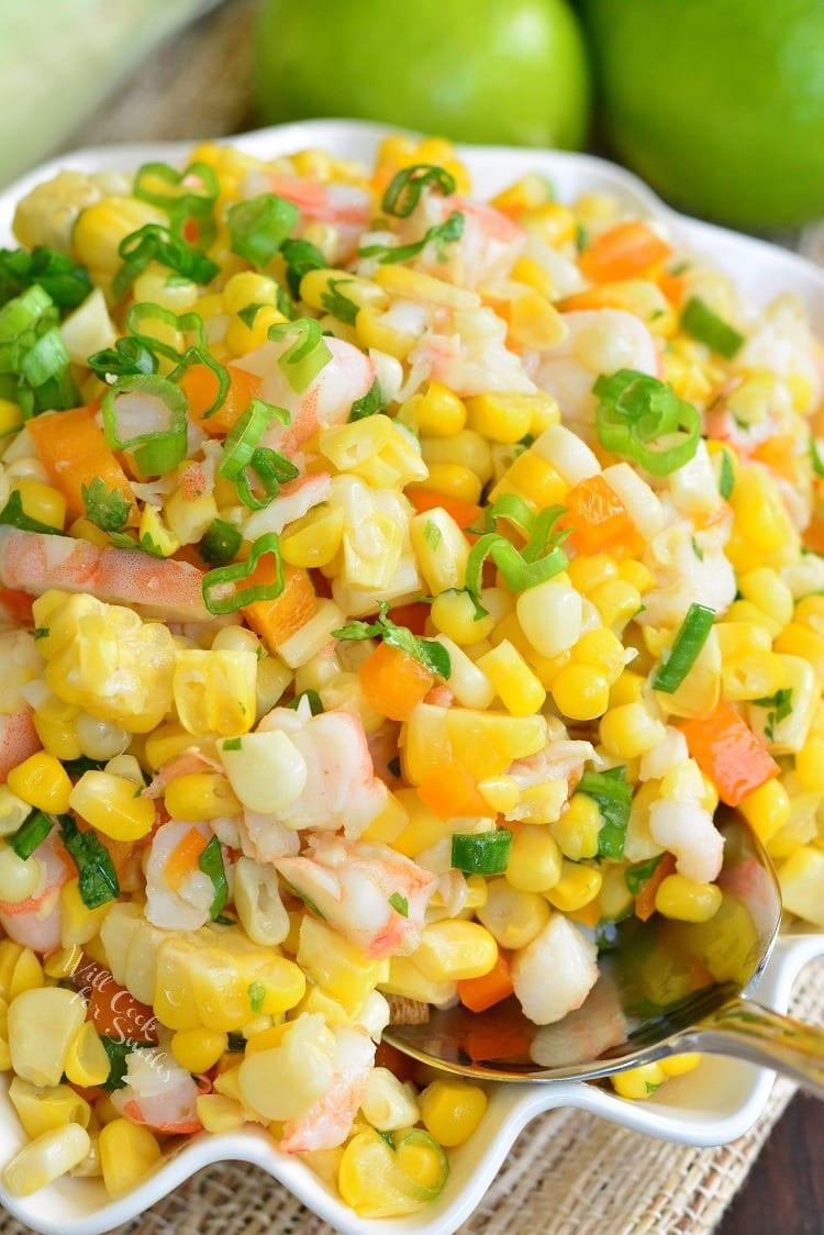 Shrimp And Corn Salad  Cilantro Lime Shrimp Corn Salad Will Cook For Smiles