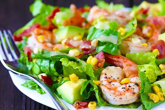 Shrimp And Corn Salad  Shrimp Avocado & Roasted Corn Salad