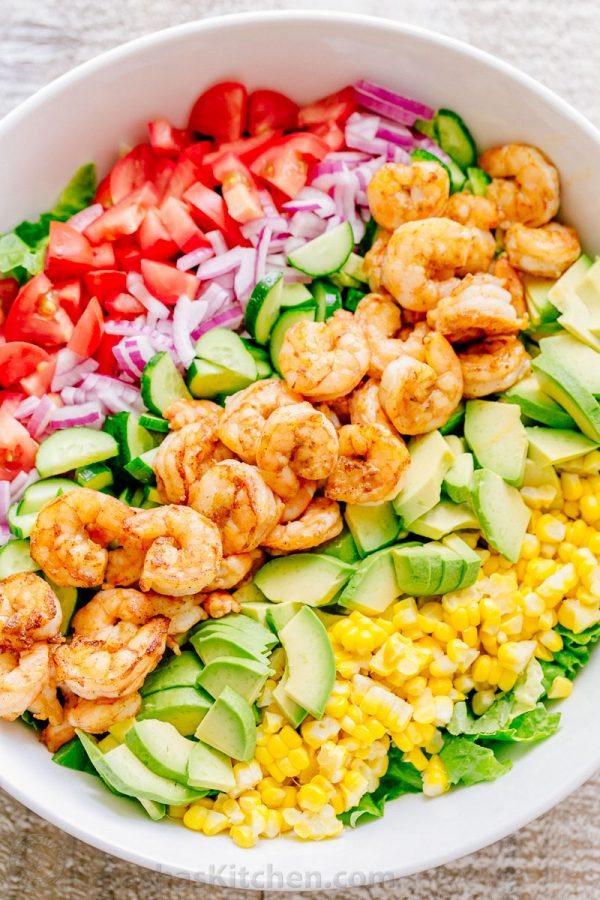 Shrimp And Corn Salad  Shrimp Avocado Salad Recipe NatashasKitchen