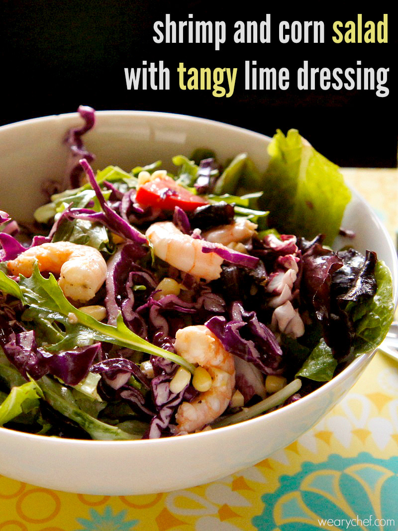 Shrimp And Corn Salad  Shrimp Salad Recipe with Corn and Tangy Lime Dressing