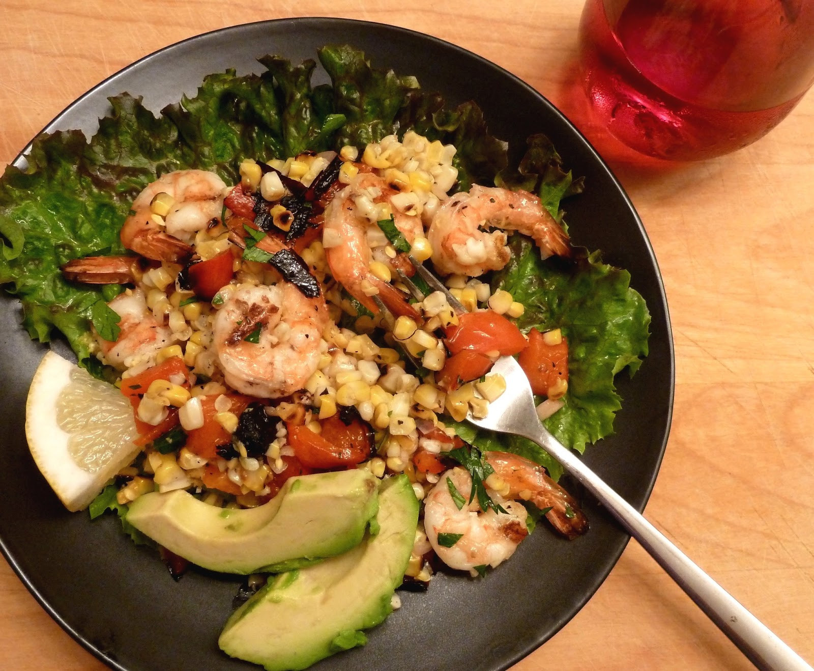 Shrimp And Corn Salad  Cracked Pepper Grilled Shrimp and Corn Salad