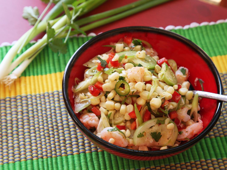 Shrimp And Corn Salad  Quick and Easy Shrimp Corn and Tomatillo Salad Recipe