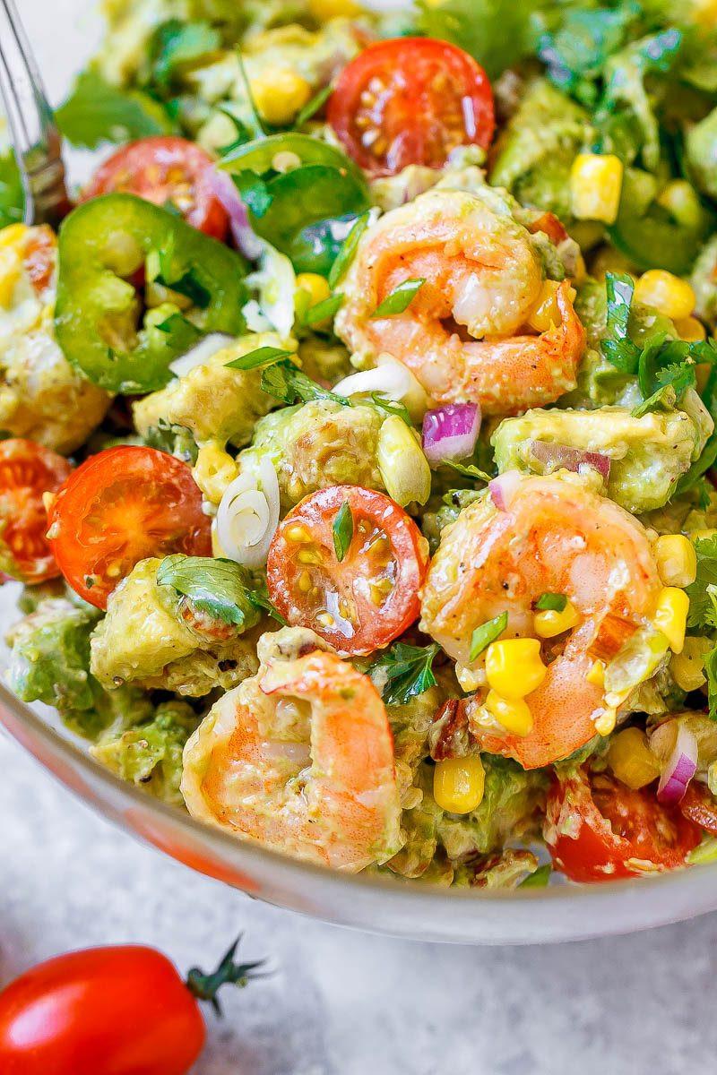 Shrimp And Corn Salad  Shrimp Avocado Corn Salad Recipe – Healthy Shrimp Avocado