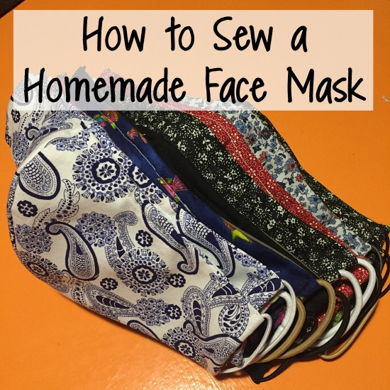 Simple DIY Face Masks  Runs for Cookies How to Sew a Simple Homemade Face Mask