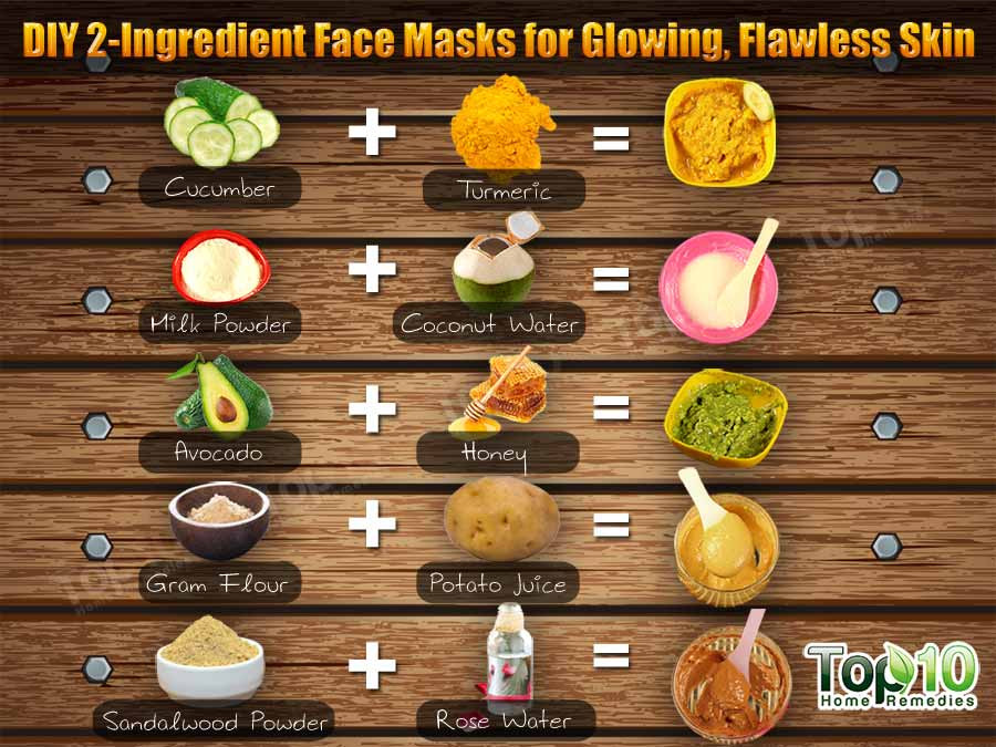 Simple DIY Face Masks  DIY 2 Ingre nt Face Masks for Glowing Flawless Skin