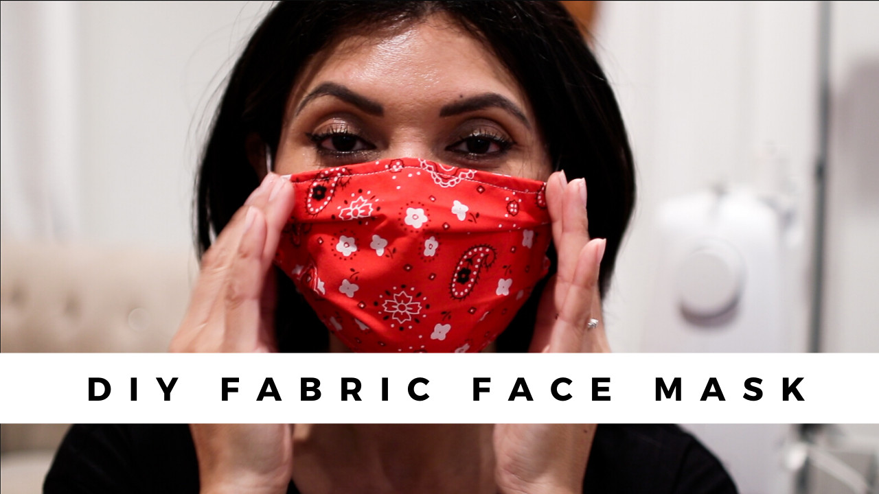 Simple DIY Face Masks  DIY Fabric Face Mask Step By Step Tutorial – To